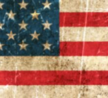 Vintage Aged and Scratched American Flag Sticker