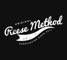 Person of Interest - Original Reese Method of Kneecapping (white lettering) by CyberWingman