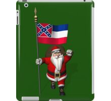 Santa Claus With Flag Of Mississippi iPad Case/Skin