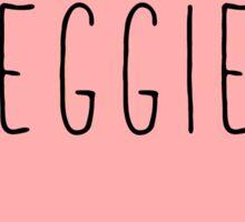 I Love Veggies Heart Black Sticker