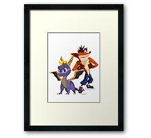Orange & Purple Framed Print