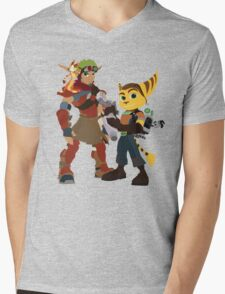 A Boy and His Lombax Mens V-Neck T-Shirt