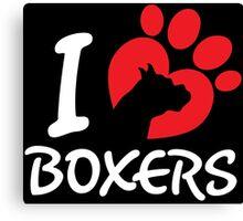 I Love Boxers Canvas Print