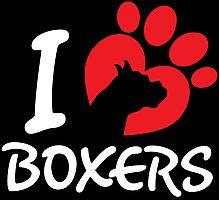 I Love Boxers Photographic Print