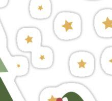 Snail Christmas Scene Sticker