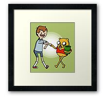 Finnie the Pooh Framed Print