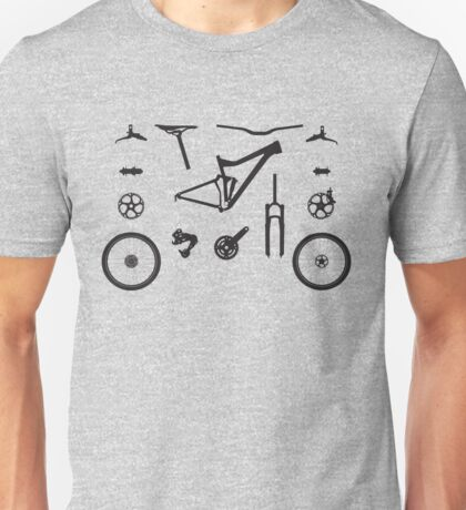 Mountain Bike Parts - MTB Gear Unisex T-Shirt