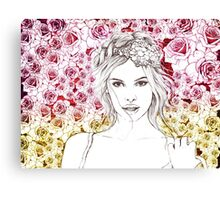 all in roses Canvas Print