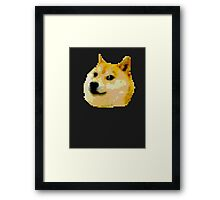 8-bit Doge Head Framed Print