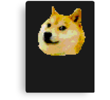 8-bit Doge Head Canvas Print
