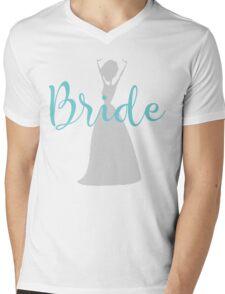 bride Silhuette Mens V-Neck T-Shirt