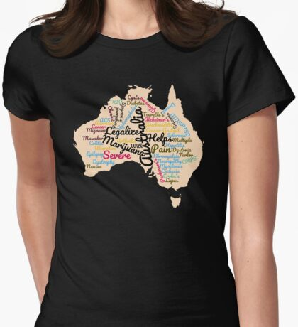 Australia Legalize Marijuana Womens Fitted T-Shirt