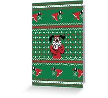Festive Duck Hunt Sweater Greeting Card