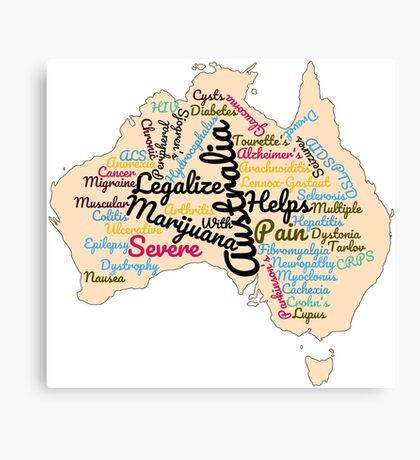 Australia Legalize Marijuana Canvas Print