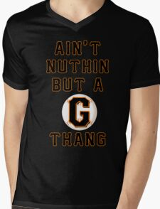 AIN'T NUTHIN BUT A G THANG Mens V-Neck T-Shirt
