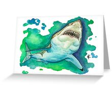 Great White Watercolor Greeting Card