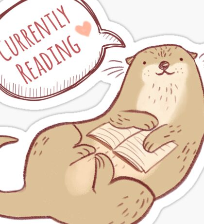 Currently reading otter Sticker
