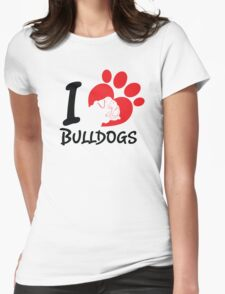 I Love Bulldogs T-Shirt