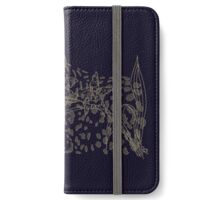 Vanishing Leopard and Orchid iPhone Wallet/Case/Skin