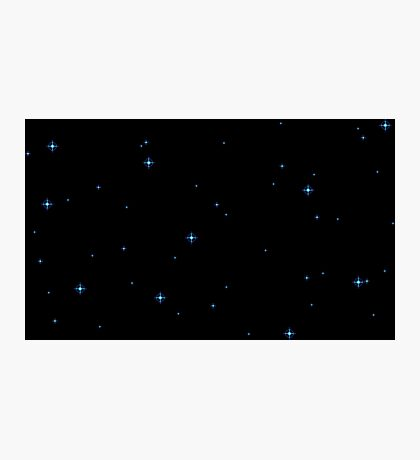 Pixel Starfield Photographic Print