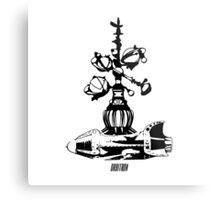Orbitron Rocket Metal Print