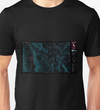 USGS TOPO Map California CA Death Valley Junction 299074 1986 100000 geo Inverted Unisex T-Shirt