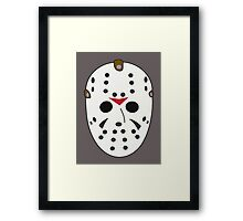 Hockey Mask Framed Print