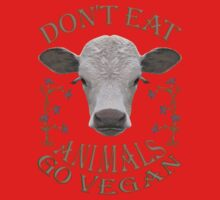 DON'T EAT ANIMALS - GO VEGAN Kids Clothes