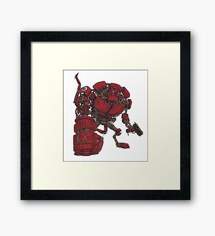 Hellbot Framed Print