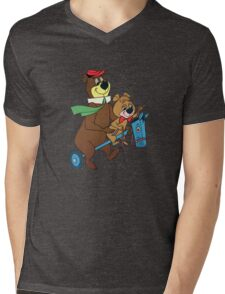 Yogi Bear & Boo Boo Mens V-Neck T-Shirt
