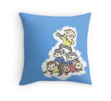 An entire space crew! Throw Pillow