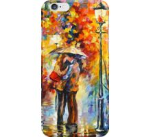 KISS UNDER THE RAIN - Leonid Afremov iPhone Case/Skin
