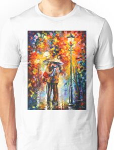 KISS UNDER THE RAIN - Leonid Afremov Unisex T-Shirt