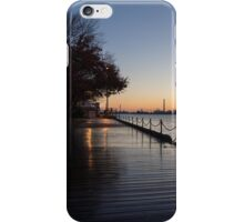 Wet Boardwalk - a Clear Morning After the Rain iPhone Case/Skin