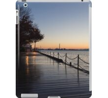 Wet Boardwalk - a Clear Morning After the Rain iPad Case/Skin