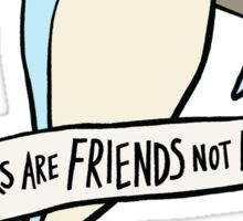 dear premier barnett: sharks are friends, not foes Sticker