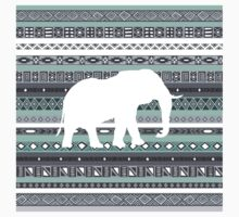 Elephant Tiffany Mint Aztec Pattern Kids Clothes