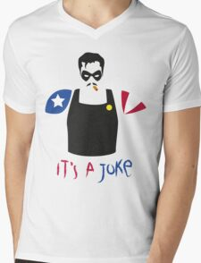 A Joke Mens V-Neck T-Shirt