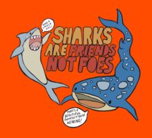 sharks are friends, not foes Kids Clothes