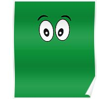 Silly Face - Cartoon Eyes - Funny Kid Print Poster