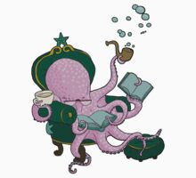 Mister Octopus reads a good book One Piece - Short Sleeve