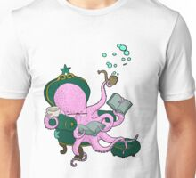 Mister Octopus reads a good book Unisex T-Shirt