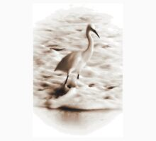Snowy Egret in Sepia Kids Clothes
