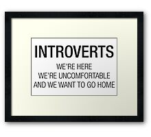 INTROVERTS Framed Print