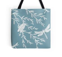 Blue Willow Paper Cutting Tote Bag