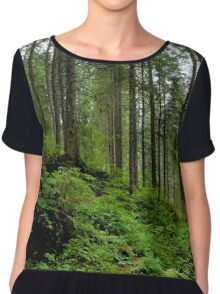In the forest Chiffon Top