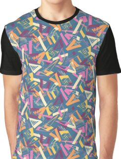 Fractured Geo - a multicoloured triangle inspired pattern Graphic T-Shirt