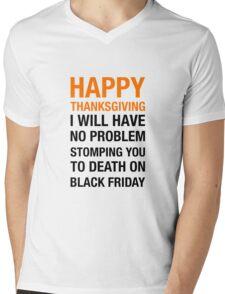 From Thanksgiving to Black Friday Mens V-Neck T-Shirt