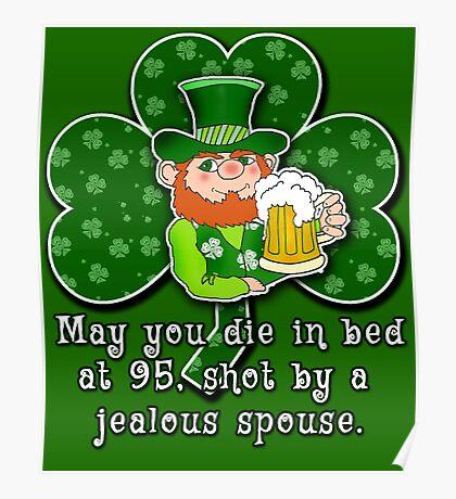 Funny Irish Toast ST PATRICKS DAY Poster