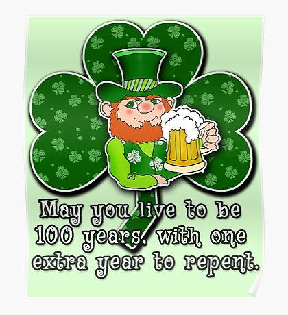 Humorous Irish Toast ST PATRICKS DAY Poster
